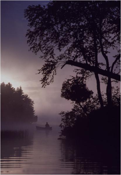 Adirondacks Forked Lake Morning Paddler 8 Bob Goot August 1981