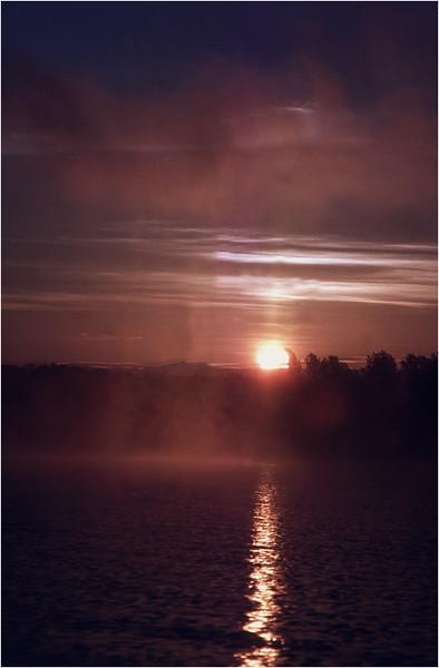 Adirondacks Lake Champlain Ticonderoga Sunrise 1 July 1981