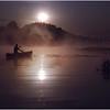 Adirondacks Forked Lake Morning Sunrise Paddle July 1984