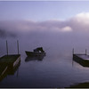 Adirondacks Eigth Lake Morning Dock Fisherman Boat July 1996