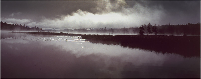 Adirondacks Forked Lake Brandreth Outlet Morning Mist 1 July 1992