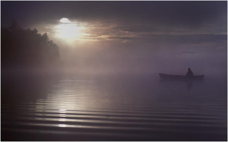 Adirondacks Forked Lake Morning Paddler 6 August 1981