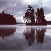 Adirondacks Forked Lake Morning Island Mist October 1984
