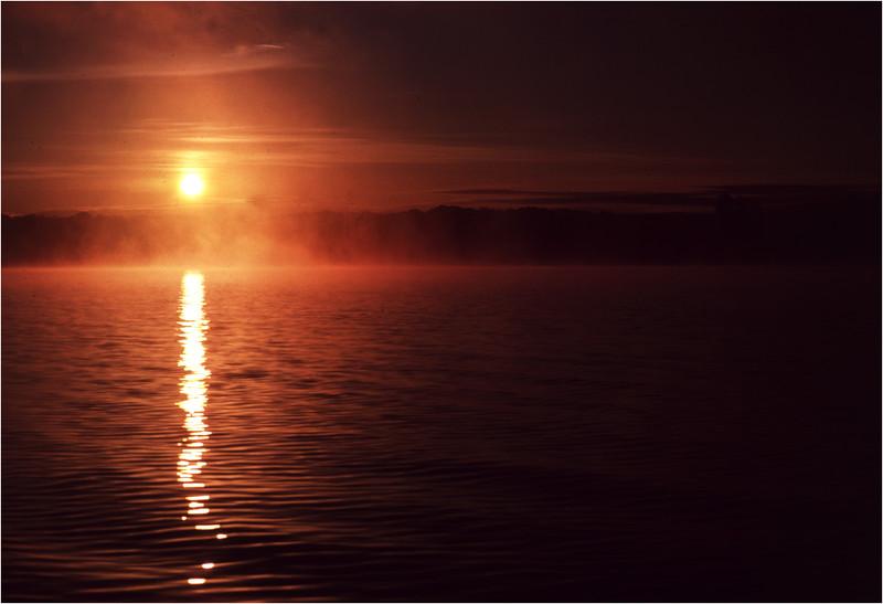 Adirondacks Lake Champlain Ticonderoga Sunrise 2 July 1981