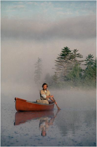 Adirondacks Forked Lake Morning Paddler 7 Bob Goot August 1981