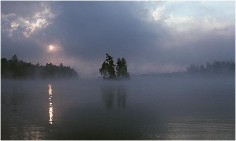Adirondacks Forked Lake Mist Island 1 July 1977
