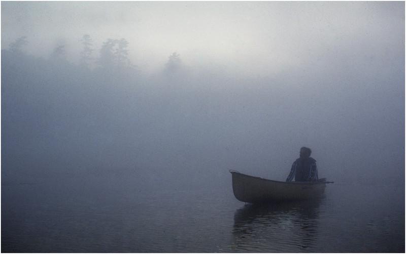 Adirondacks Forked Lake Mist Joe Amyot Drifting July 1979