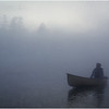 Adirondacks Forked Lake Mist Joe Amyot Drifting July 1979