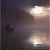 Adirondacks Forked Lake Morning Paddler 1 August 1981
