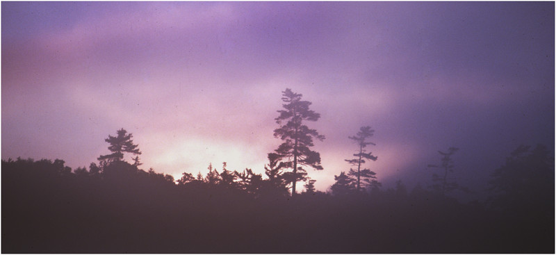 Adirondacks Forked Lake Sunrise Skyline July 1978