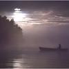 Adirondacks Forked Lake Morning Paddler 3 August 1981