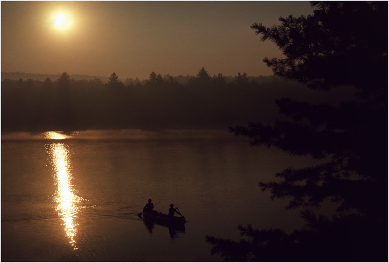 Adirondacks Forked Lake Morning Paddlers Campsite 40 August 1976