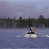 Adirondacks Forked Lake Mist Ron Stidnick Rowing August 1983