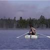 Adirondacks Forked Lake Mist Ron Stidnick Rowing August 1983