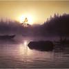 Adirondacks Forked Lake Sunrise Landing Moored Rental Boats August 1976