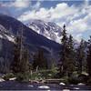 Grand Teton Park  WY Cascade Canyon Creek and Tetons 2  June 1980