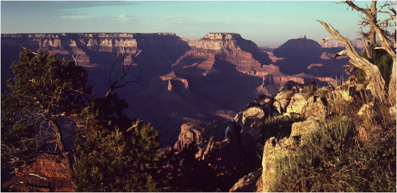 Grand Canyon AZ Bright Angel Point View 1 May 1980