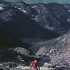 Glacier Park MT Hiker Ascending Gunsight Mt 3 July 1980