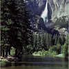 Yosemite CA Yosemite Falls Merced River 1 July 1980