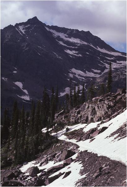 Glacier Park MT Trail Down Sperry Cirque July 1980