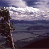Grand Teton Park  WY Jackson Hole from Teewinot Mt  June 1980