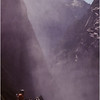 Yosemite Ca Vernal Falls 4 Hikers Above June 1980