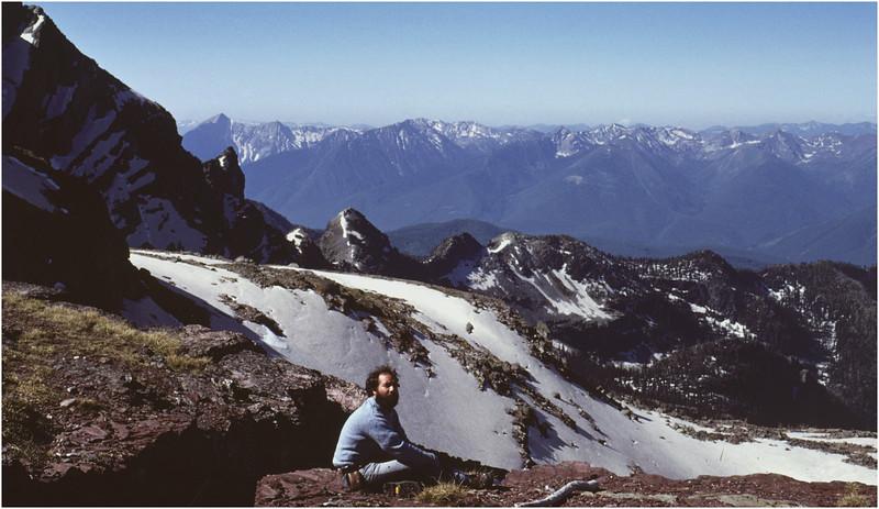 Glacier Park MT Above Sperry Glacier Tom Bessette 2 July 1980