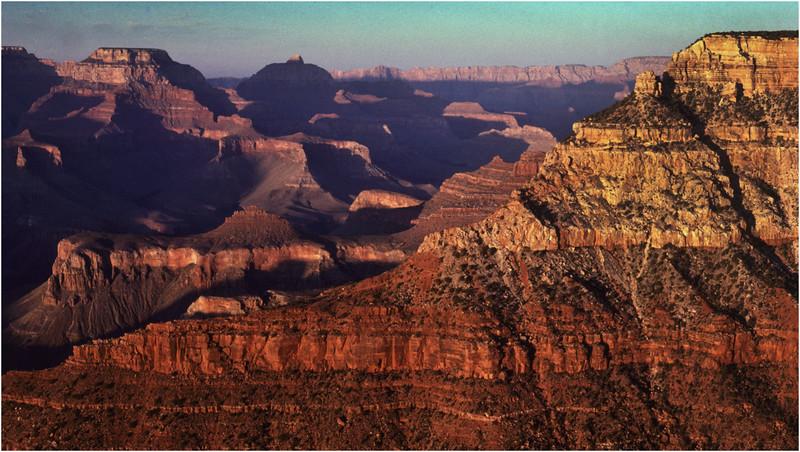 Grand Canyon AZ Bright Angel Point View 5 May 1980