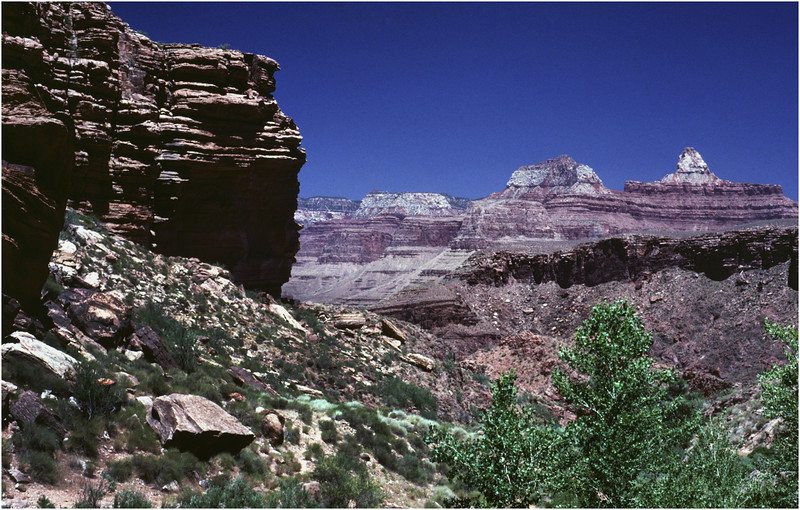 Grand Canyon AZ Bright Angel Trail 2 May 1980