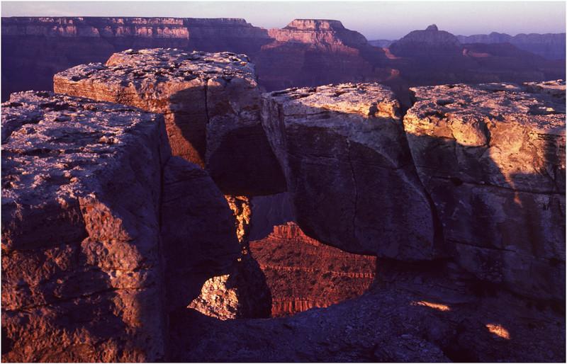 Grand Canyon AZ Bright Angel Point View 4 May 1980