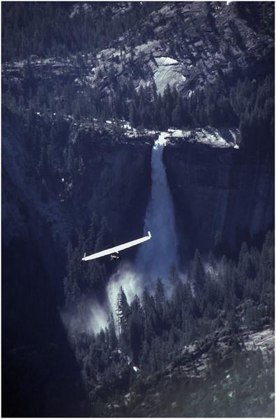 Yosemite CA Glacier Point Glider 5 July 1980