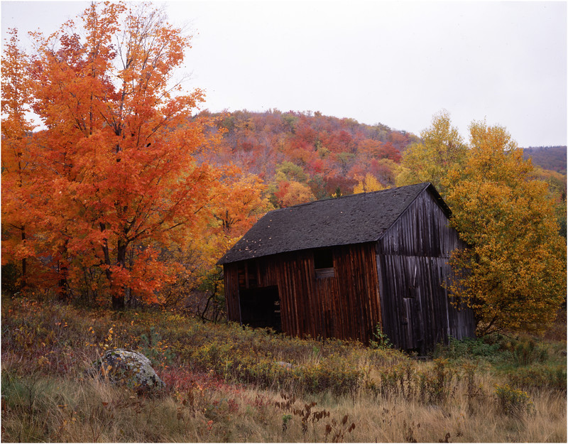 45 Adirondacks Blue Mt Lake Hillside Barn October 1997