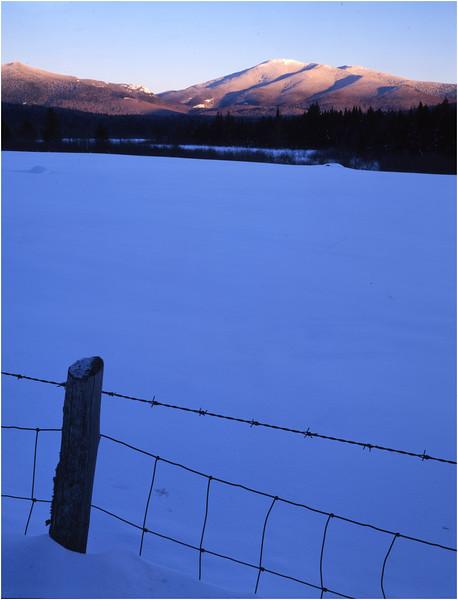 45 Adirondacks North Elba Cascade Peak and Fence 2 February 2001