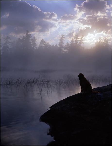 45 Adirondacks Lake Lila Sunrise 5 Mcki August 1997