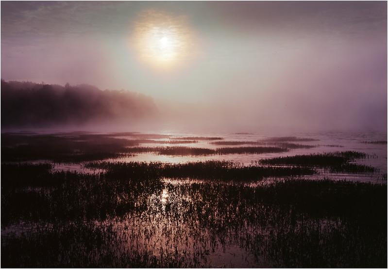 45 Adirondacks Lake Durant Sunrise October 2002