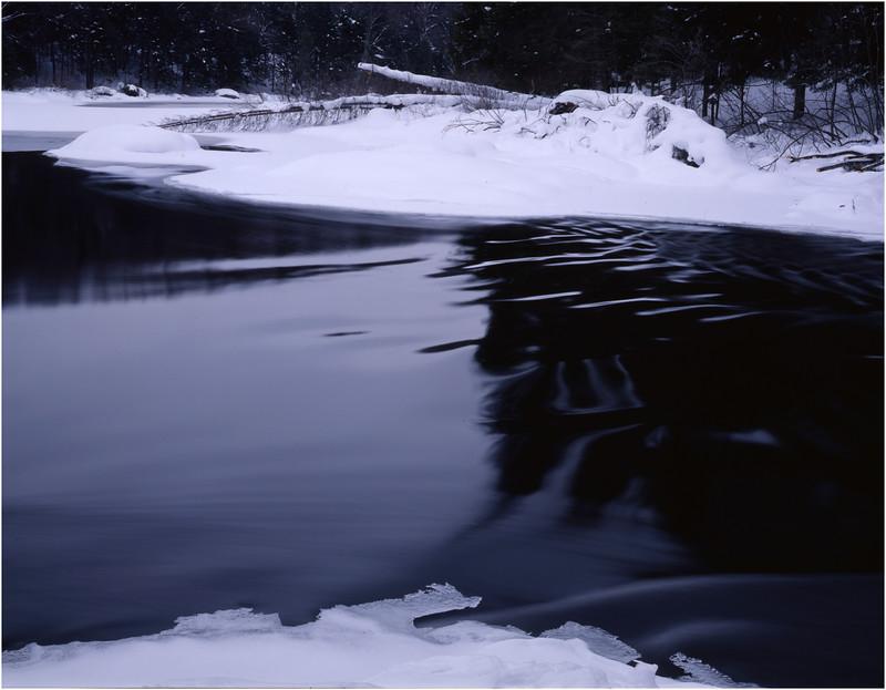 45 Adirondacks Long Lake Raquette River Half Frozen January 2001