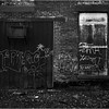 67 Cohoes NY Harmony Mill Door Winndow and Grafitti May 2005