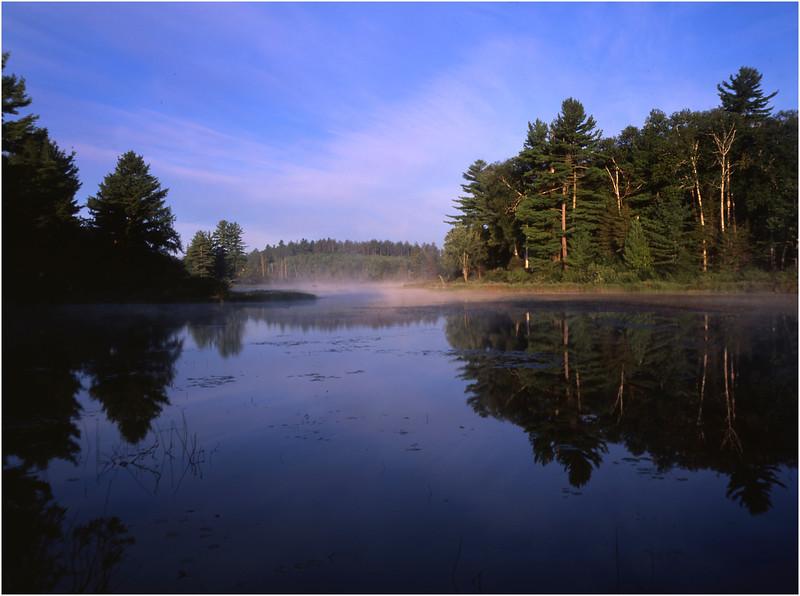 67 Adirondacks Lake Durant Morning Mist 5 August 2003