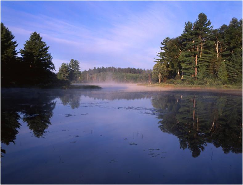67 Adirondacks Lake Durant Morning Mist 6 August 2003