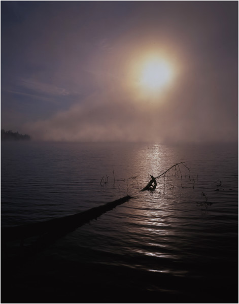 67 Adirondacks Lake Lila Morning Mist 1 August 2003