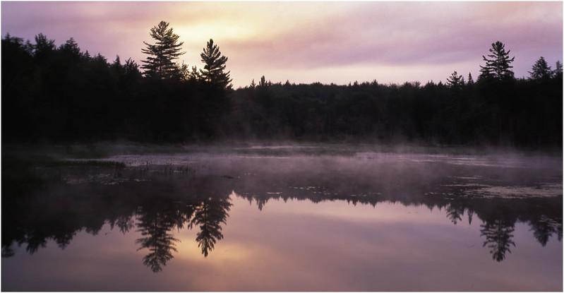 67 Adirondacks Lake Durant Morning Mist 3 August 2003