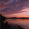 67 Adirondacks Forked Lake Sunset from Campsite 75 3 July 2003