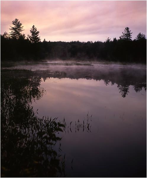 67 Adirondacks Lake Durant Morning Mist 4 August 2003