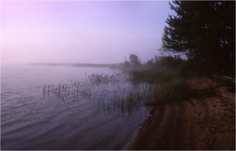 67 Adirondacks Lake Lila Morning Mist 5 August 2003