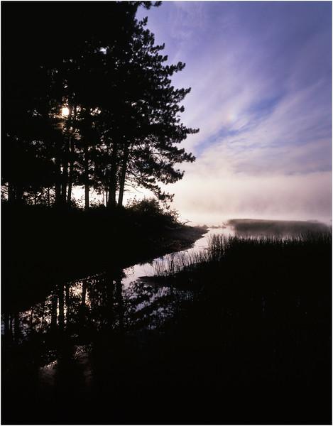 67 Adirondacks Lake Durant Morning Mist 7 August 2003