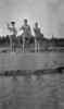 #1 Cortland & Stowell & maybe George Stebbins toss horse-shoes on beach