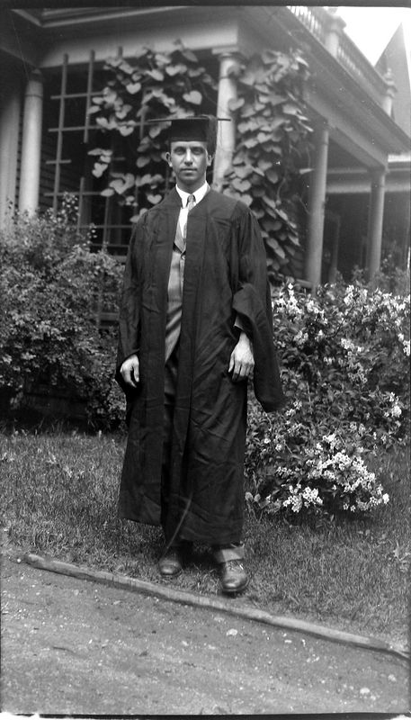 62i Rowland Stebbins in Graduation gown