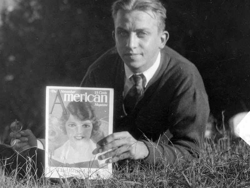 68 Rowland Stebbins with American Magazine cropped
