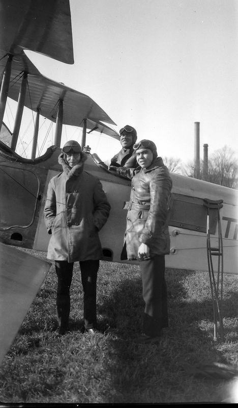 68u Rowland Stebins & man prepare for flight