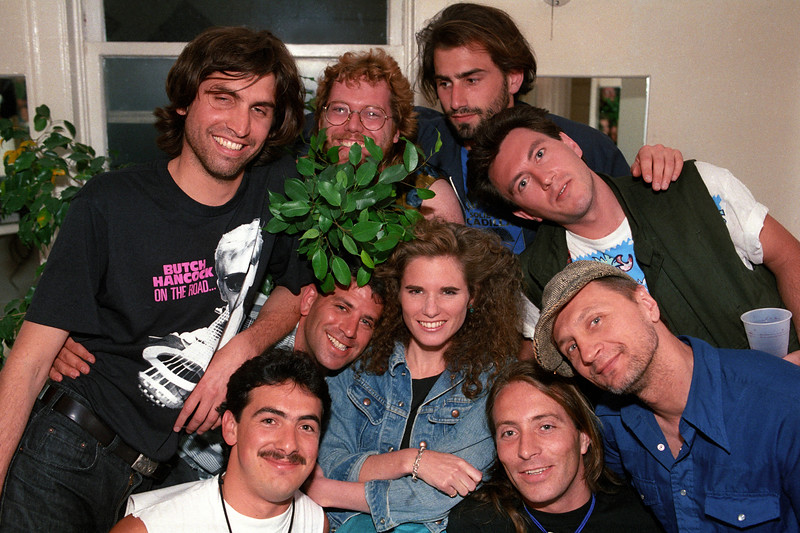 Cowboy Junkies backstage at the Fillmore Auditorium in San Francisco on June 5, 1989.
